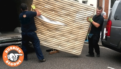 Mattress disposal by Rubbish Begone team