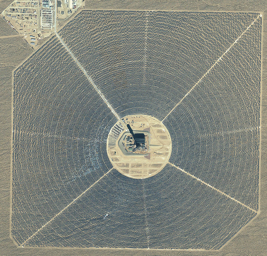Ivanpah Solar Plant Bird View