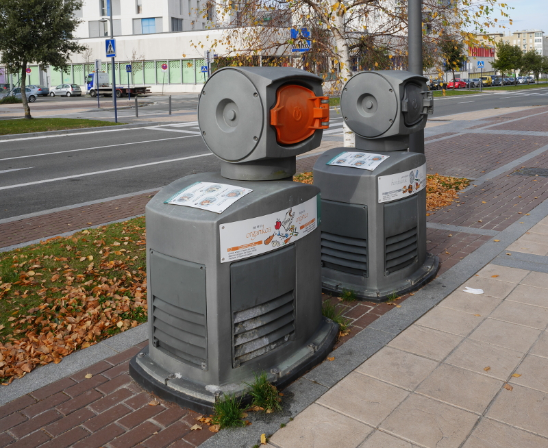 Pneumatic refuse collection in Northern Spain