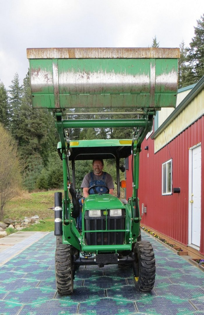 tractor-on-solar-panels