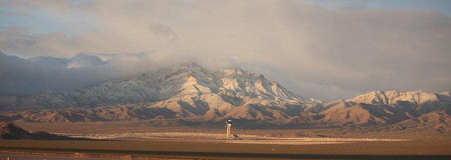 Mojave Desert Winter Solar Plant
