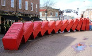 'Out Of Order' sculpture in Kingston upon Themes
